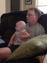 Football obsessed husband and son in training (2012)