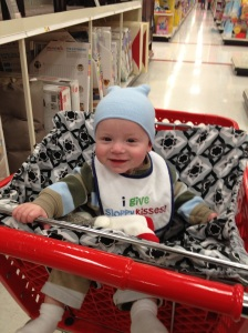 The first time you sat up in a shopping cart