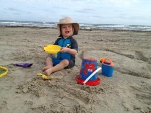 First time at the beach - Port Aransas, TX
