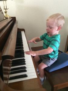Jammin' on Granddaddy's piano